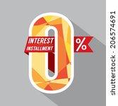 zero percent interest... | Shutterstock .eps vector #206574691