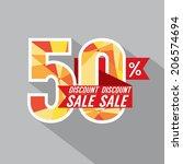 50 percent discount vector... | Shutterstock .eps vector #206574694
