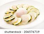 Small photo of Carpaccio of zucchini and scallop adductor