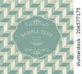 vintage frame on retro seamless ...   Shutterstock .eps vector #206577175