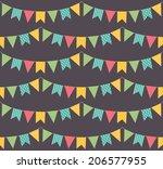 garland seamless pattern | Shutterstock .eps vector #206577955