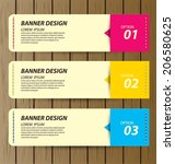 design template banners set | Shutterstock .eps vector #206580625