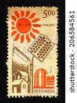 india   circa 1988  postage... | Shutterstock . vector #206584561