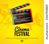 movie cinema festival poster.... | Shutterstock .eps vector #206590885