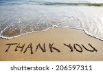 thank you words written on the... | Shutterstock . vector #206597311