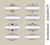 set of vintage vector frame... | Shutterstock .eps vector #206600179