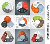 vector circle triangle...   Shutterstock .eps vector #206610991