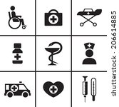 medicine health care icons set... | Shutterstock .eps vector #206614885