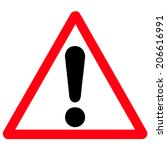 warning attention sign  | Shutterstock .eps vector #206616991
