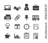 business   office icons | Shutterstock .eps vector #206618419