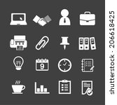 business   office icons | Shutterstock .eps vector #206618425