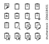 clipboard icons | Shutterstock .eps vector #206618431