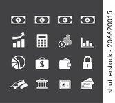 finance icons set | Shutterstock .eps vector #206620015