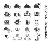internet icon set | Shutterstock .eps vector #206620051