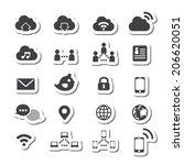 internet icon set | Shutterstock .eps vector #206620051