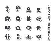 flower vector set | Shutterstock .eps vector #206620084