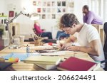 meeting in architects office   Shutterstock . vector #206624491
