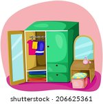 illustration of cute colorful... | Shutterstock .eps vector #206625361