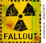 nuclear fallout warning sign ... | Shutterstock .eps vector #206627875
