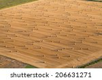 aerial view of  harvest field  | Shutterstock . vector #206631271