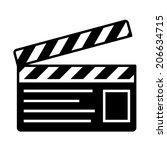 film slate  vector | Shutterstock .eps vector #206634715