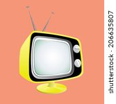 stylish retro tv  vector | Shutterstock .eps vector #206635807
