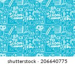 doodle back to school seamless... | Shutterstock .eps vector #206640775