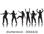 variety of silhouettes of... | Shutterstock .eps vector #2066626