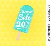 summer sale 20  off. vector... | Shutterstock .eps vector #206666779