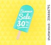 summer sale 30  off. vector... | Shutterstock .eps vector #206666791