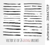 big set of vector brushes.... | Shutterstock .eps vector #206667319