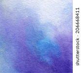 Watercolor Painting   Blue  Se...