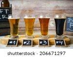 beer flight   Shutterstock . vector #206671297