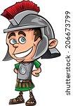 cute cartoon roman legionary ....   Shutterstock .eps vector #206673799