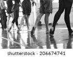 dancing gait  ballerinas in a... | Shutterstock . vector #206674741