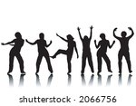 variety of silhouettes of... | Shutterstock . vector #2066756