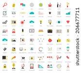 really big set of 64 modern... | Shutterstock .eps vector #206677711
