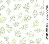 seamless texture of dill | Shutterstock .eps vector #206709901