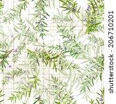 seamless texture of rosemary | Shutterstock .eps vector #206710201