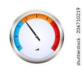 temperature gauge | Shutterstock .eps vector #206710219