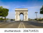 arc de triomphe   arc of triumph | Shutterstock . vector #206714521