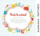 back to school colorful... | Shutterstock .eps vector #206714821