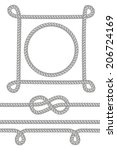 set of ropes  knots and frames. ... | Shutterstock .eps vector #206724169