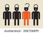 unlock your mind or open secret ... | Shutterstock .eps vector #206726899