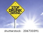 stop drunk driving road sign... | Shutterstock . vector #206733391