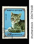 mongolian postage stamp with... | Shutterstock . vector #20674168