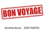 bon voyage grunge rubber stamp... | Shutterstock .eps vector #206746051