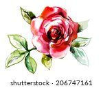 Stock vector red rose 206747161