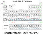 periodic table of the elements. ... | Shutterstock .eps vector #206750197