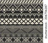 vector retro pattern. aztec...   Shutterstock .eps vector #206756287